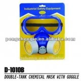 Goggle & Double Tank Chemical Mask