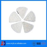 white corundum angle cut abrasive surface polishing media