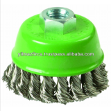 Wire Brush Twist Knot Cup Stainless 80 mm