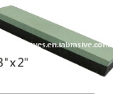 Green/Black silicon carbide combination sharpening stone