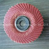 100*16mm flexible flap disc radial flap disc  plastic backing