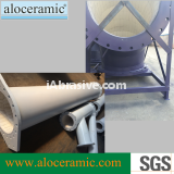 Alumina ceramic elbow with flange