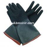 Natural Rubber Textured Blasting Glove