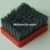 High performance steel abrasive brush for granite marble